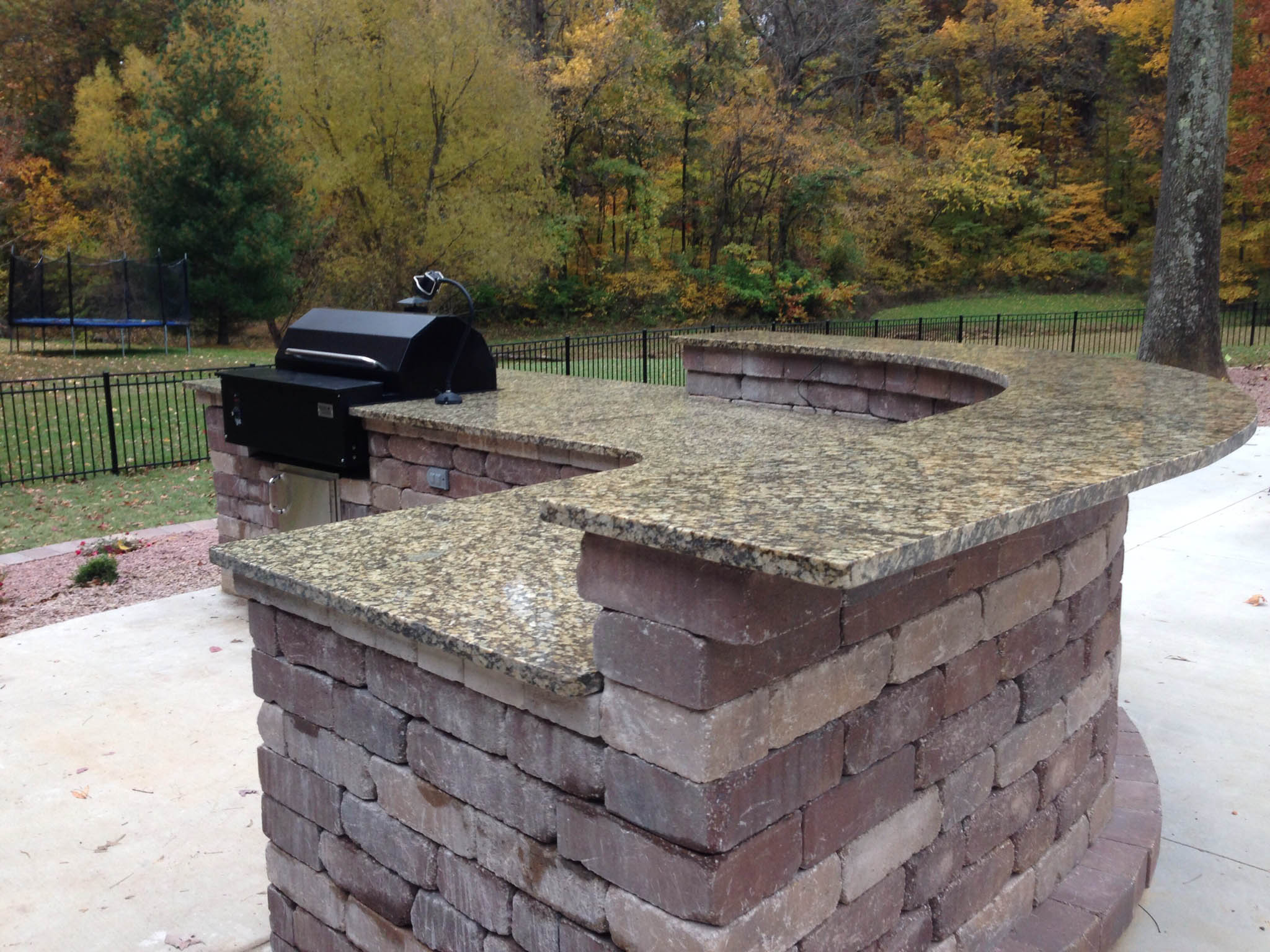 Outdoor Stone Grill