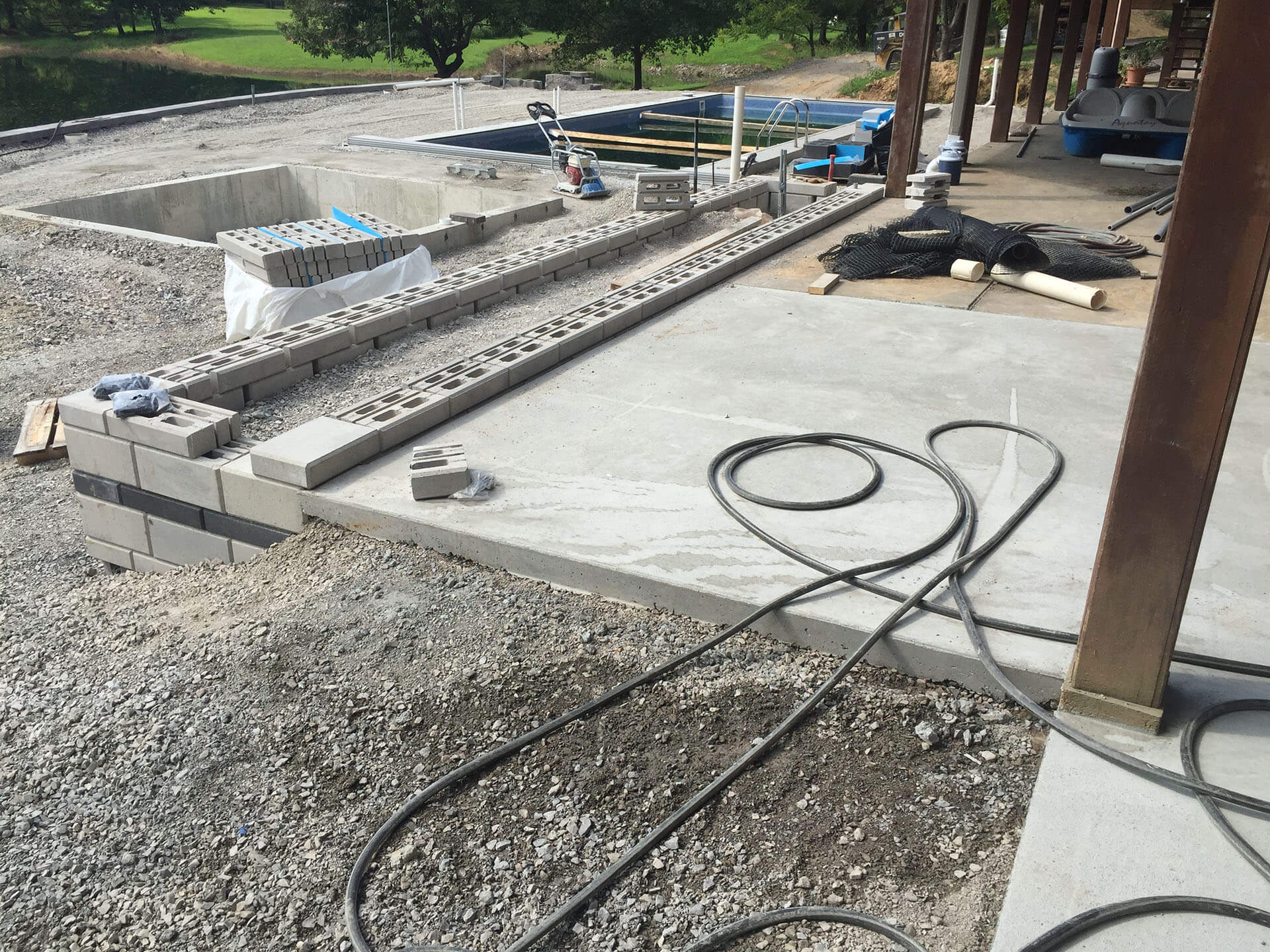 pool deck and party space Cape Girardeau, MO Project