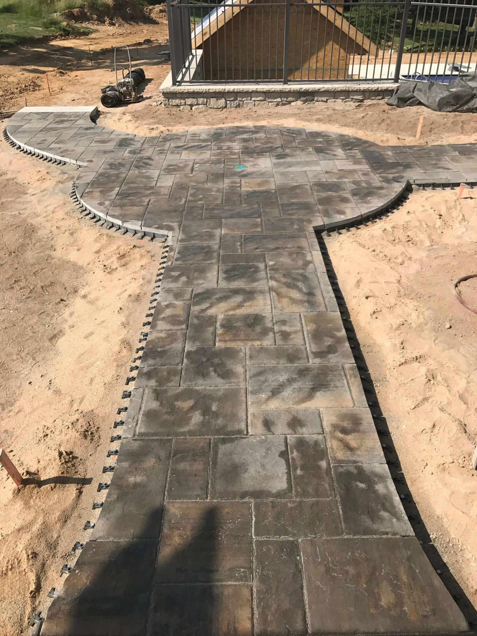 natural stone walkways Dexter, MO Project